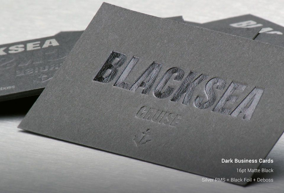 Dark Business Cards | StickerCanada