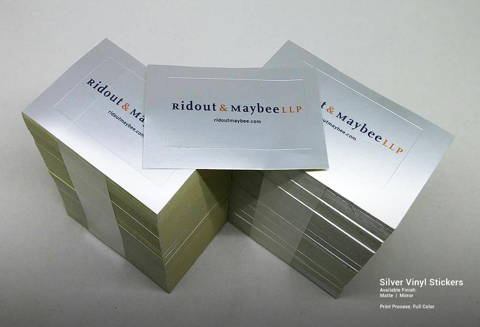 Customised silver vinyl stickers gallery stickercanada