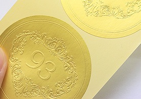 Quebec Custom Embossed Paper Stickers Printing