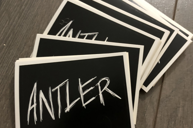 Antler Standard Vinyl Stickers