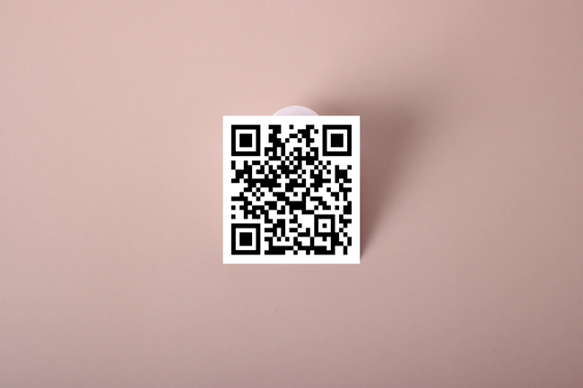 QR Code Kiss Cut Sticker