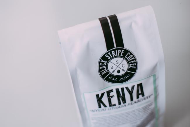 Black Stripe Kenya Coffees Label Canada