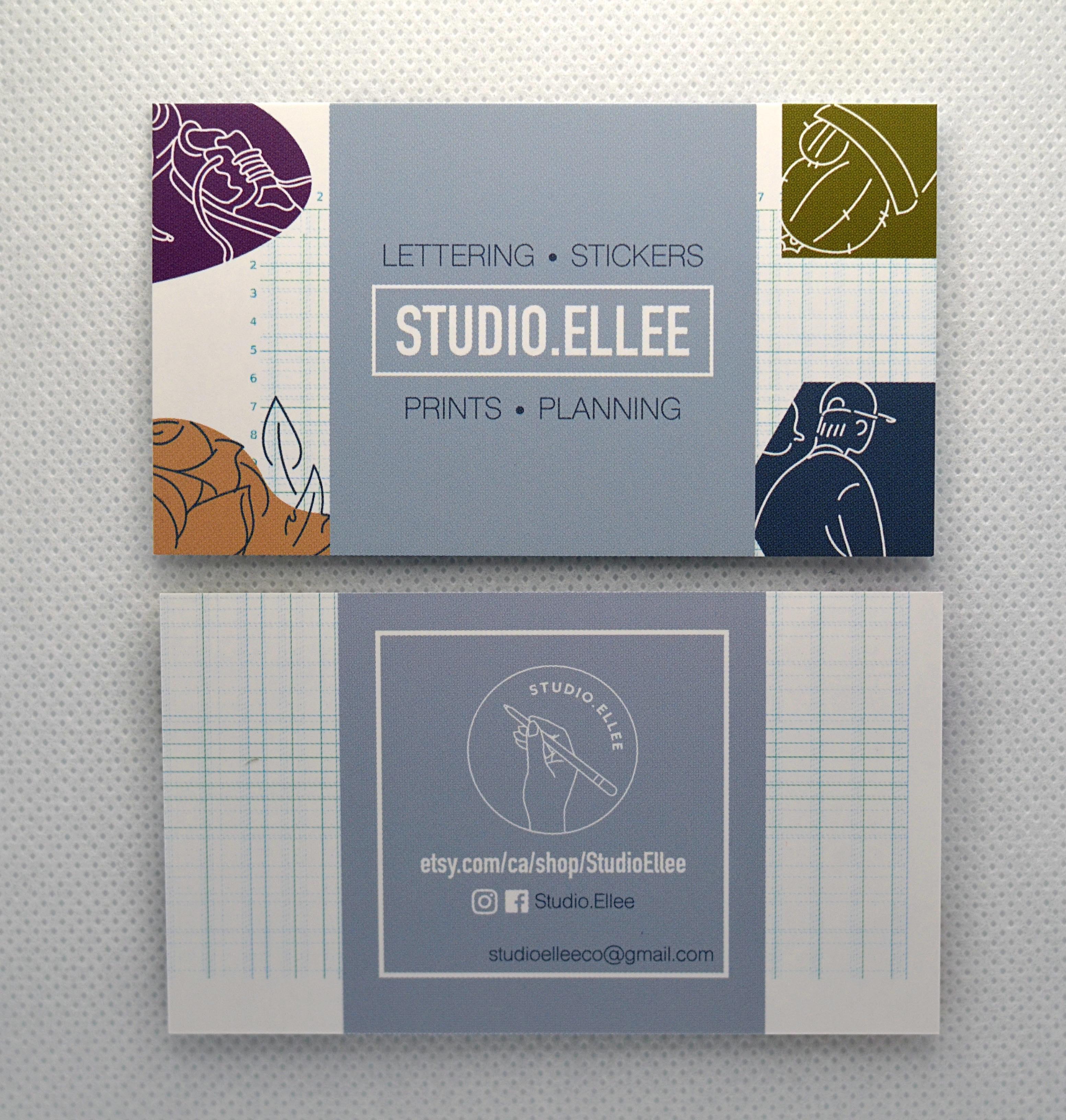 studio ellee business card