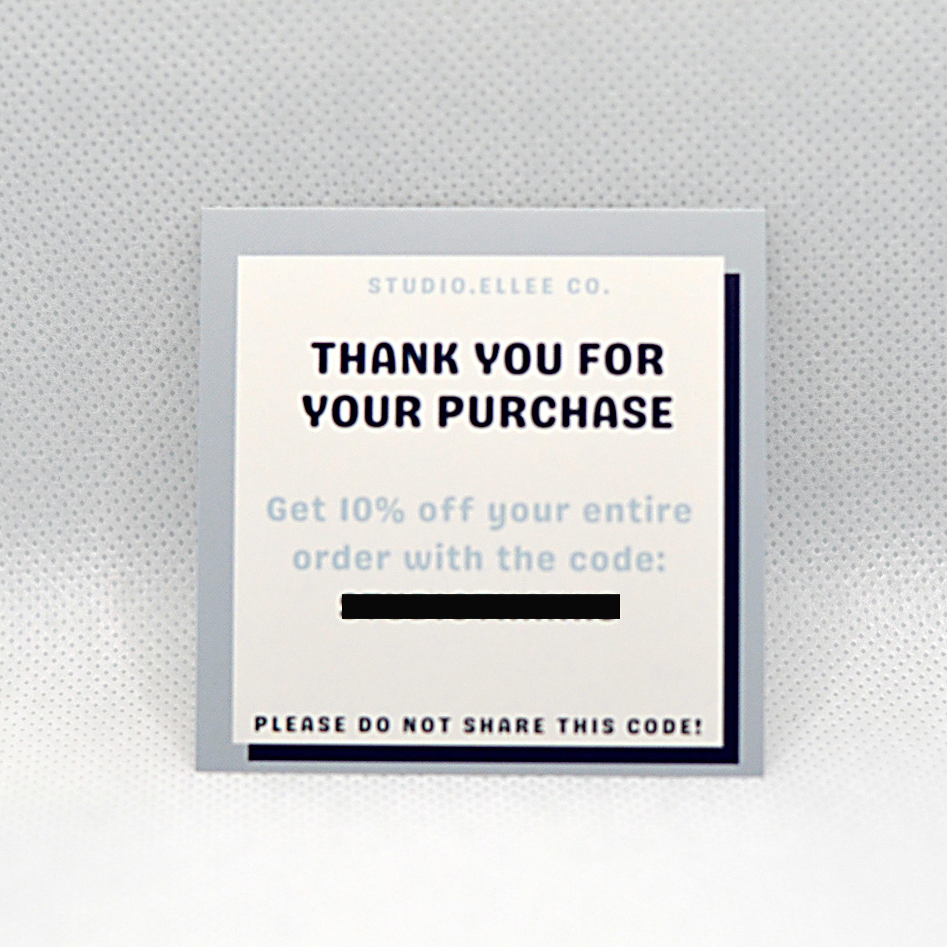 thank you purchase cards