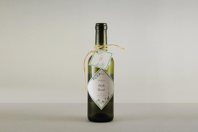 wedding wine bottles custom label