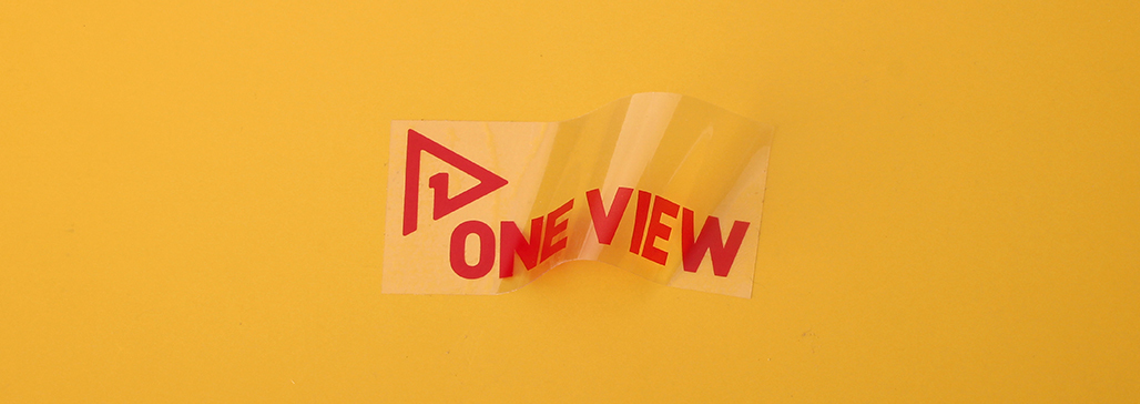 one view transparent stickers