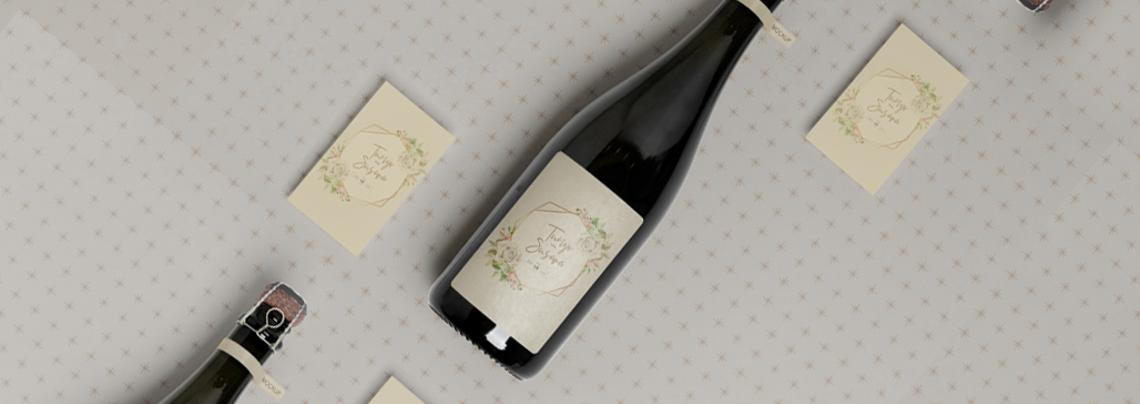 wine bottles custom labels