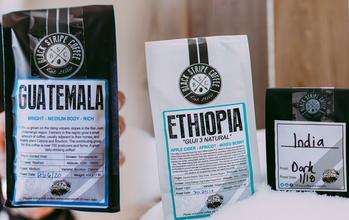 Black Stripe Coffees Custom Labels