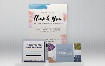 Thank You Cards Custom